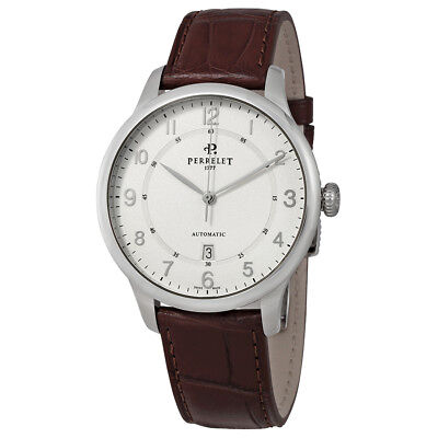 Perrelet First Class Automatic Mens Leather Watch A1049/4