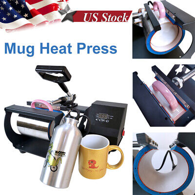 Mug Heat Press Machine Heat Sublimation Transfer For 11oz Diy Coffee Mug Cup Us