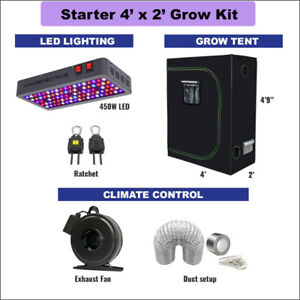 4' X 2' STARTER Grow Kit for Cannabis & Vegetables GrOh Canada