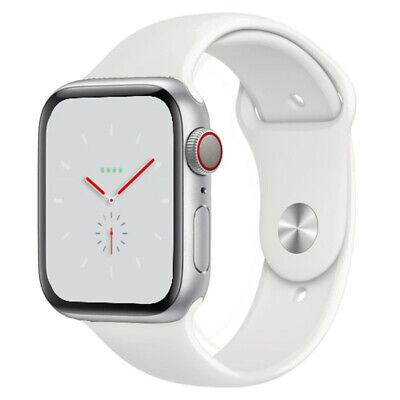Apple Watch Nike+ Series 4 - 44mm Silver Aluminium Case - White Sport Band - GPS