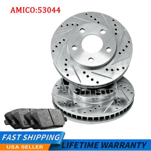 Rear Drill Slot Brake Rotors And Ceramic Pads For Liberty Dodge Nitro Front