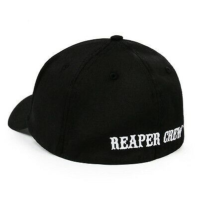 Us Ship Soa Sons Of Anarchy Reaper Crew Fitted Baseball Cap Hat Adult