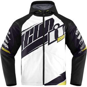 Icon Team Merc motorcycle jacket. White medium