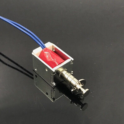 Dc 6v-12v Micro Mini Solenoid Electromagnet Actuator Open Frame Suction Type Rod