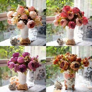 Artificial-Silk-Peony-Flowers-Home-Garden-Wedding-Party-Bridal-Bouquet-Decor-US