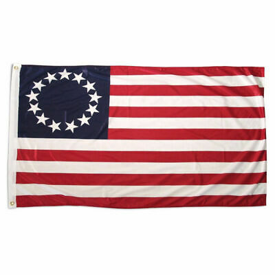 Betsy Ross Flag 3x5 Polyester USA American 13 Star Indoor Ou