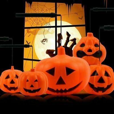 Lighted Pumpkins For Halloween (Pumpkin Light Lantern Handheld Handle Durable For Halloween Party)