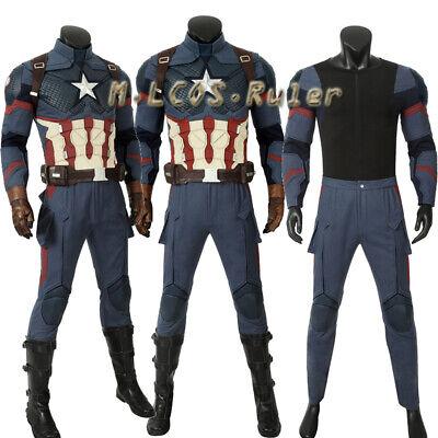 Avengers 4 Captain America Cosplay Costume Halloween Suit Customize Accessories - Captain America Suit Avengers