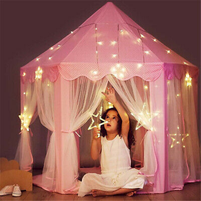 Girls Pink Princess Castle Cute Playhouse Child Kids Play Tent Toys In/ Outdoor