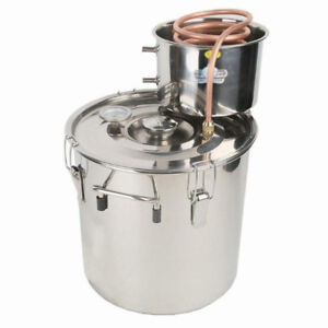 18 Liters Copper Ethanol/Water Distiller Still Stainless Boiler