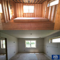 Drywall hanging, filling and stucco/plaster repairs