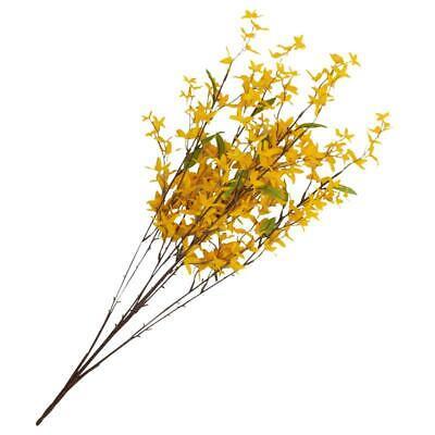 Yellow Artificial Forsythia Bush   for Indoor Decor