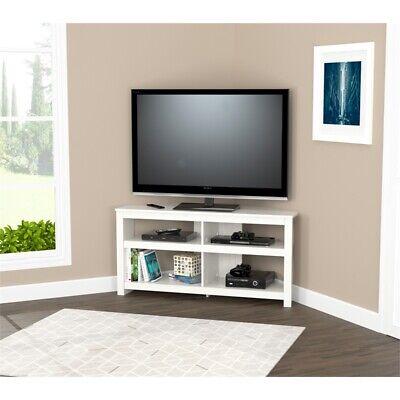 Inval Washed Oak Corner TV Stand