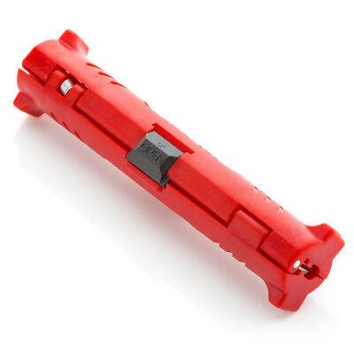 deleyCON Abisolierer SAT Koaxial Kabel Antennenkabel Werkzeug Entmantler Messer