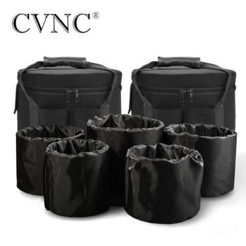 "CVNC 2 Pcs Inserts Black Carry Cases for 6""-12"" Crystal Singing Bowls Chakra Set"