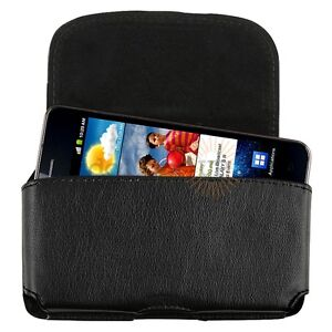 Black Leather Flip Belt Clip Case Cover for HTC EVO 3D Accessory Mobile Phone