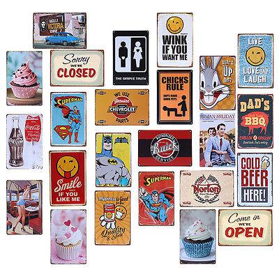 Vintage Metal Tin Sign Beach Decor Home Bar Poster Plaque Working Warning Decor (Beach Decoration)