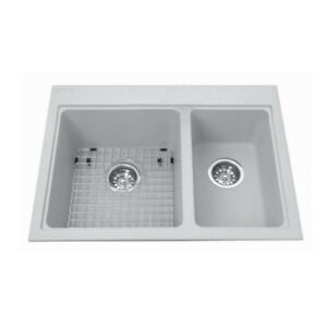 Kindred KGDC2027R/8 27 x 20 Combination Granit Sink Shadow Grey