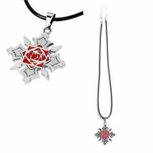 Anime Vampire Knight Steel Kuran Yuuki Pendant Necklace Cosplay Silver Color New