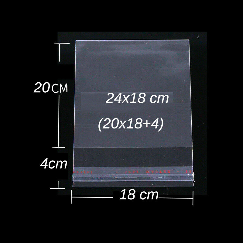 как выглядит Пакет или сумка Clear Self Adhesive Resealable Poly Cello Cellophane OPP Bags 9 Specification фото