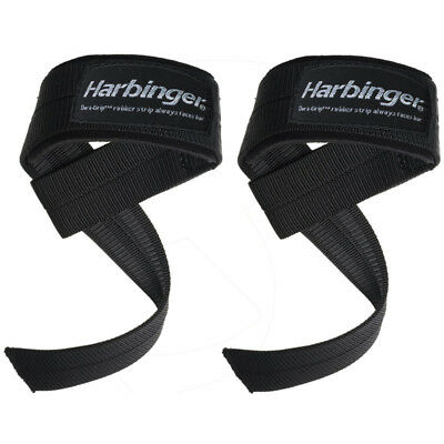 Harbinger Big Grip No-Slip Padded Weight Lifting Straps for sale  Shipping to India