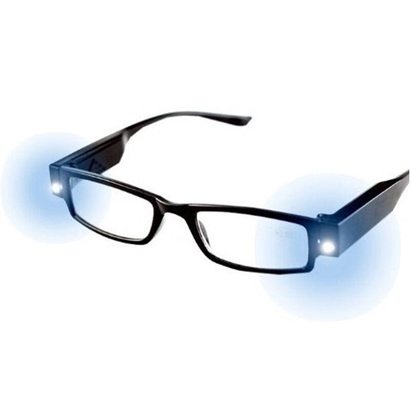 Lesebrille mit LED 1,0-3,0 Dioptrien inkl. Batterien,Lesehilfe,Sehhilfe Brille
