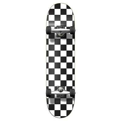 Yocaher Graphic Complete Skateboard - Checker White