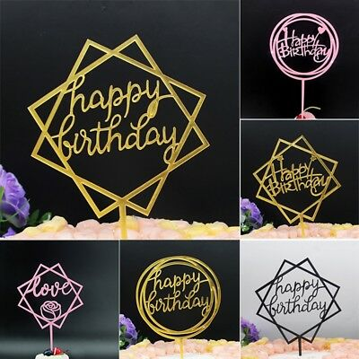 HS 1Geburtstag Kuchen Dekoration HAPPY BIRTHDAY Backen Flagge decoration inserts