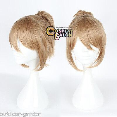 Prince of STRIDE Yagami Riku Cosplay Perücke 35cm Flaxen Anime Girl Ponytail Wig