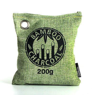 Reusable Air Purifying Bag Bamboo Charcoal Bag Freshener Odor Deodorizer 200g