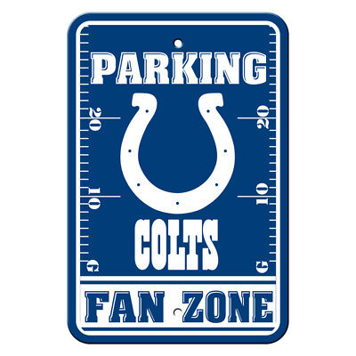 New NFL Indianapolis Colts Home Office Bar Decor Parking Sign FAN ZONE 12