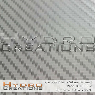 Hydrographic Film Hydro Dipping Water Transfer Film Silver Carbon Fiber Defined