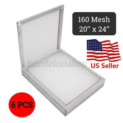 6 Pack 20 X 24 Luminum Silk Screen Printing Press Frame Screens 160 Mes C