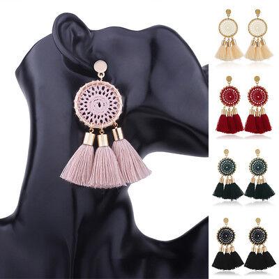 1 Pair Boho Long Thread Tassel Drop Dangle Earrings Dream Catcher Women - Dreamcatcher Jewelry