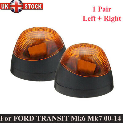 For Ford Transit Mk6 Mk7 Front Lh + Rh Side Indicator Repeater Lights Lamp Pair