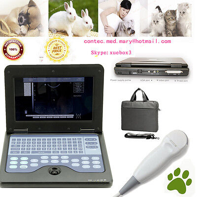 Veterinary Vet Machine Portable Laptop Ultrasound Scanner 5.0 Micro-convex Probe