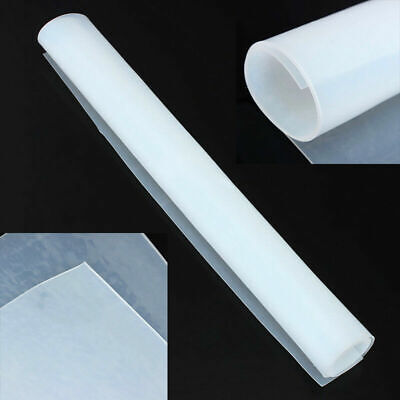 New 20x20 1mm Thicknes Silicone Rubber Sheet Clear High Temperature Resistance