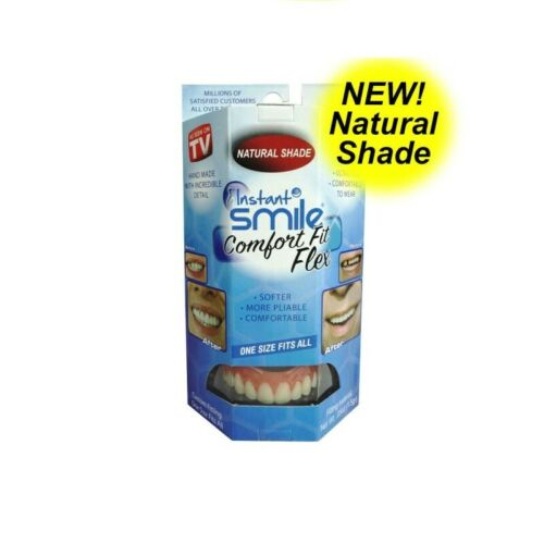INSTANT SMILE NATURAL SHADE COMFORT FIT FLEX for UPPER TEETH - FREE SHIPPING