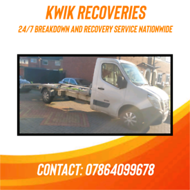 KWIK RECOVERIES-24/7 BREAKDOWN & RECOVERY SERVICE NATIONWIDE, FROM £30