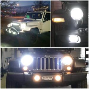 Jeep L.E.D. Headlights/Fog Light Kits