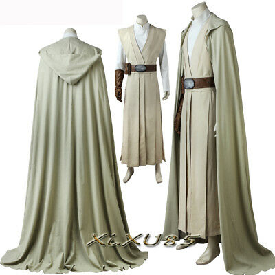 Star Wars 8:The Last Jedi Luke Skywalker Cosplay Costume Luke Suit Custom Made