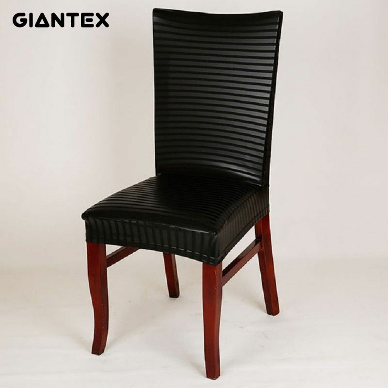 PU Leather Elastic Modern Dining Chair Covers For Kitchen Se