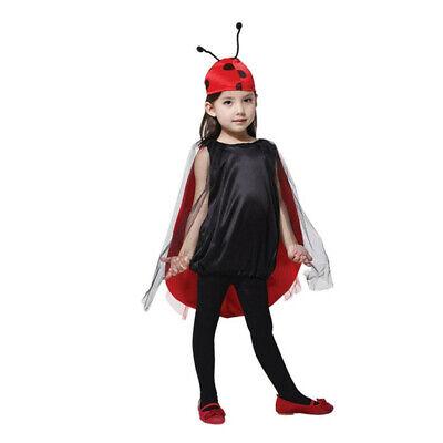 AUSVERKAUF Marienkäfer Fasching Kinder Kostüm Mädchen Karneval Kita Party Tier