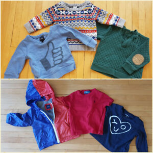 6-12 months Baby boy brand name shirts, sweaters and jacket