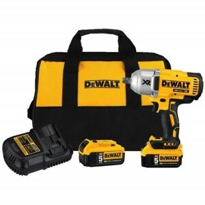 "DEWALT 20V XR Brushless High Torque 1/2"" Impact Wrench Kit-NEW"