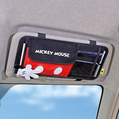 Mickey Mouse Accessories (DISNEY Mickey Mouse Sun Visor Organizer Phone Holder Storage Car)