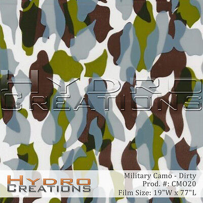 Hydrographic Film For Hydro Dipping Water Transfer Film Dirty Military Camo