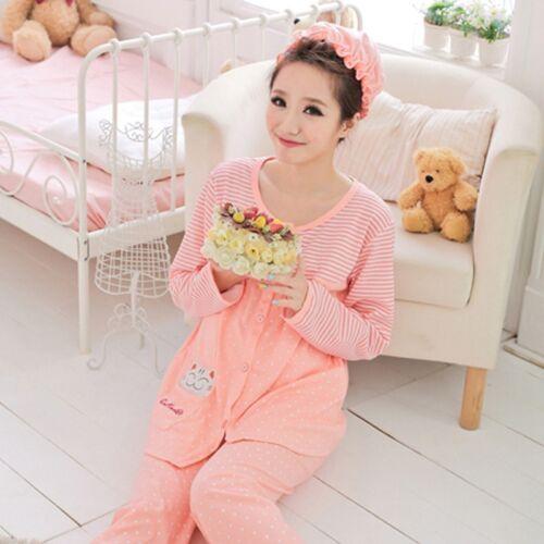 8f1ac754ee6a4 Comfy Pregnant Women Loungewear Maternity Pajama Set Feeding Nursing  Sleepwear