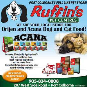 Acana & Orijen pet foods Available at Ruffin's Pet Centre