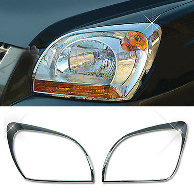 Chrome Head Lamp Light Cover Garnish Molding Trim  For KIA 2005-2008 Sportage